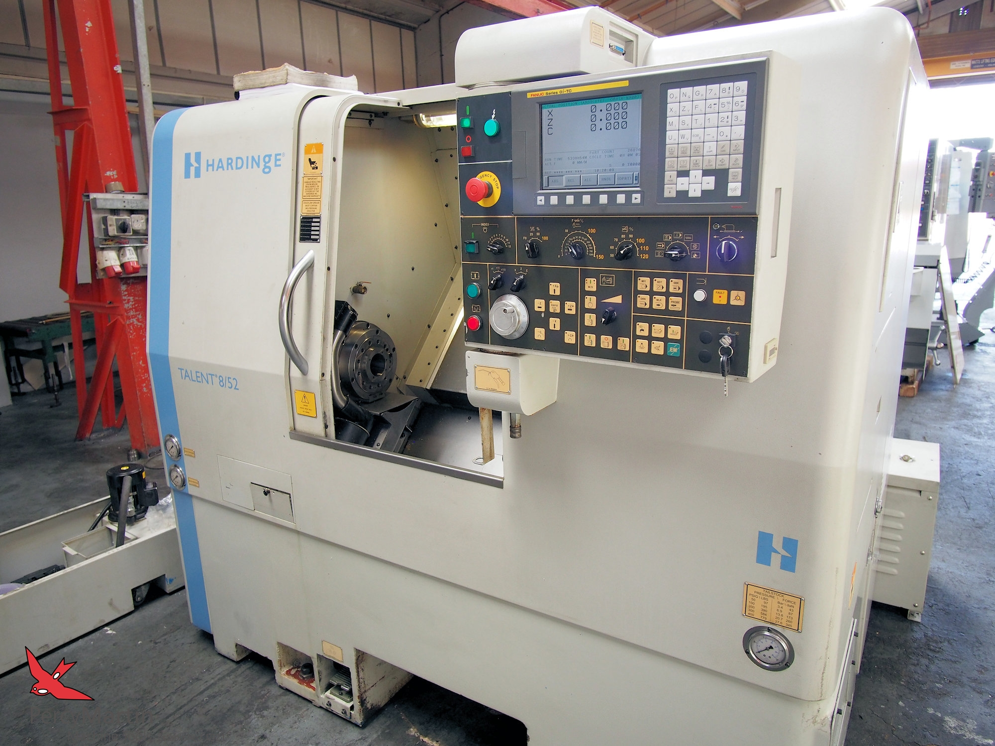 Hardinge Talent 8/52 with C axis & Milling 2006